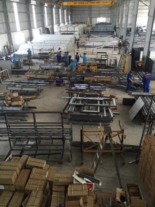 Nhà máy gia công nhôm kính - Toàn Cầu Invest