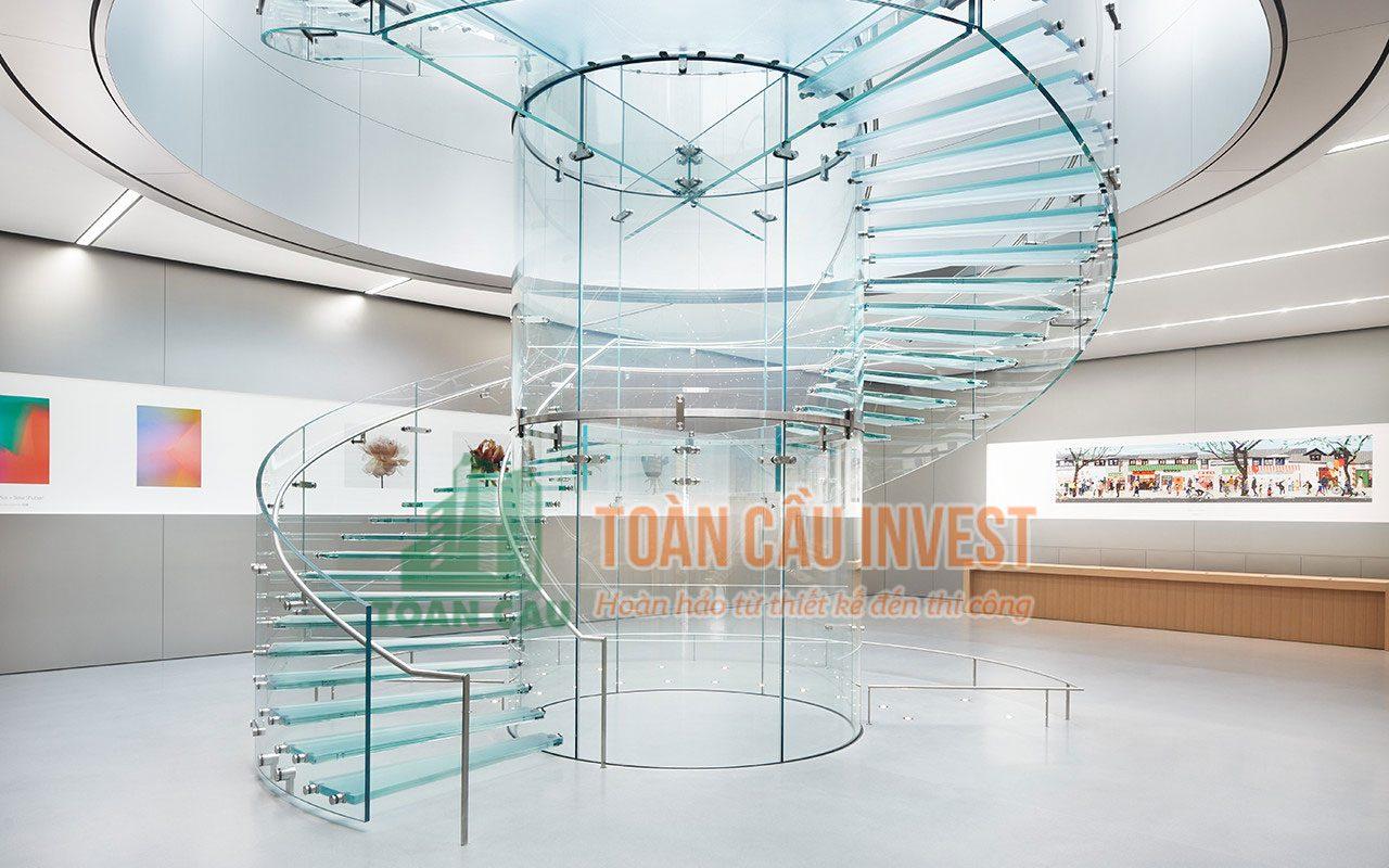 Cầu thang kính - Toàn Cầu Invest