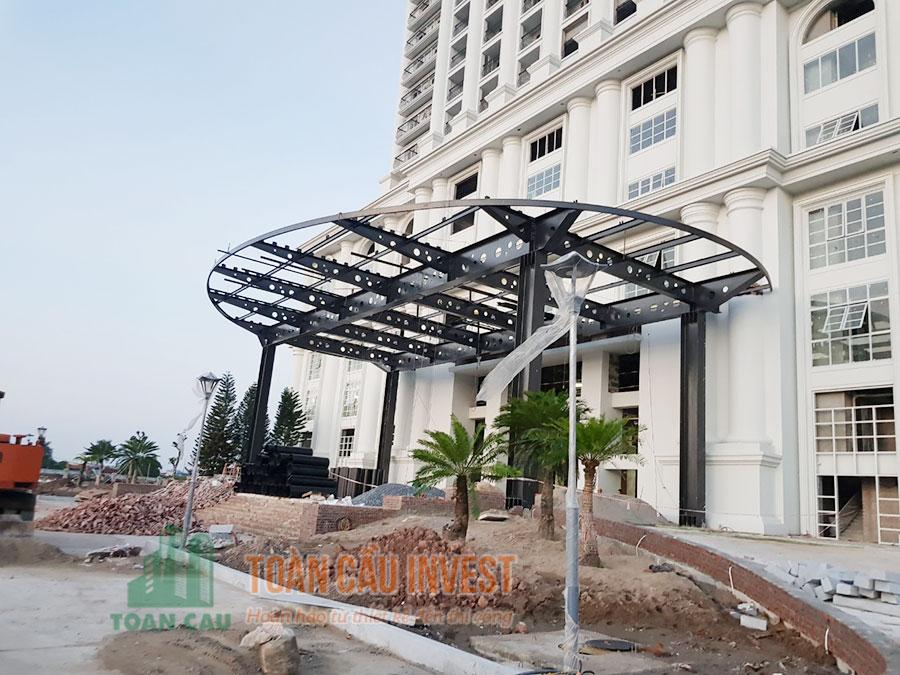 Thi công mái sảnh Nam Định - Toàn Cầu Invest
