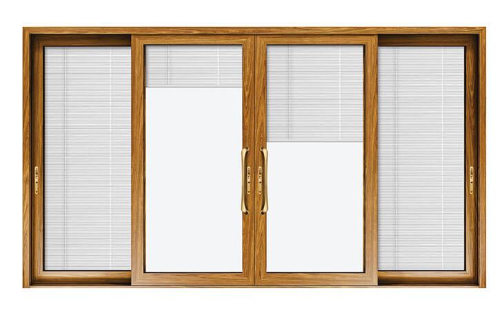Mẫu cửa sổ nhôm kính 4 cánh mở trượt