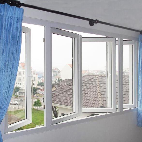 Mẫu cửa sổ nhôm kính 4 cánh mở quay