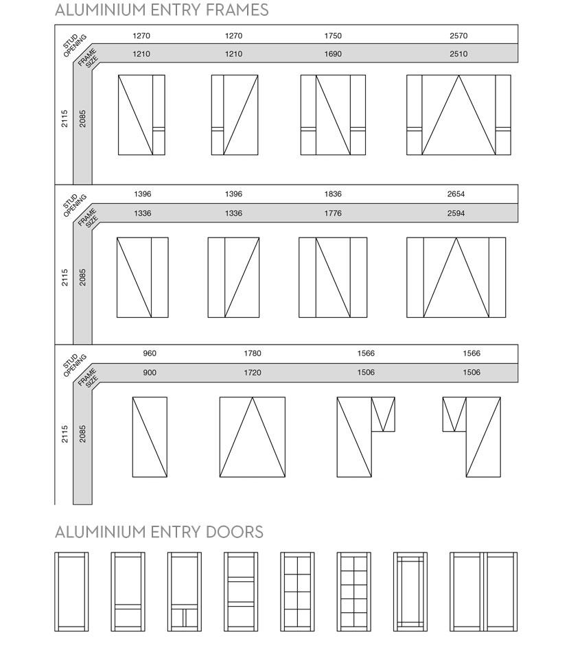 bản vẽ chi tiết cửa nhôm kính