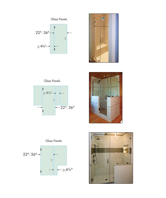 kích thước vách kính tắm