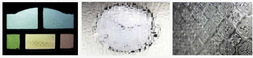 kính hoa văn