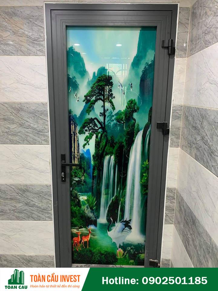 Một số mẫu cửa nhôm kính tranh 3D đẹp