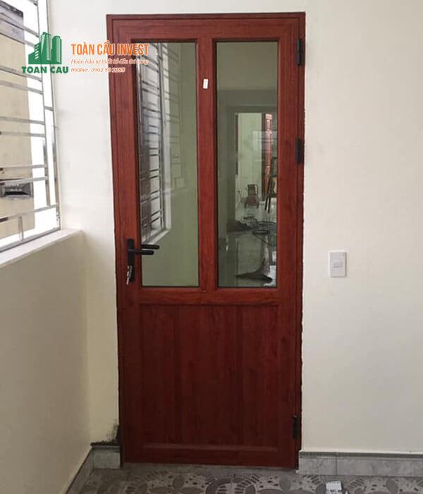 Mẫu cửa nhôm kính Xingfa 1 cánh mở quay