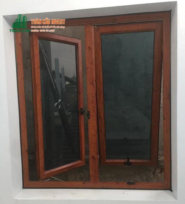 Mẫu cửa sổ nhôm kính mở hất và mở quay