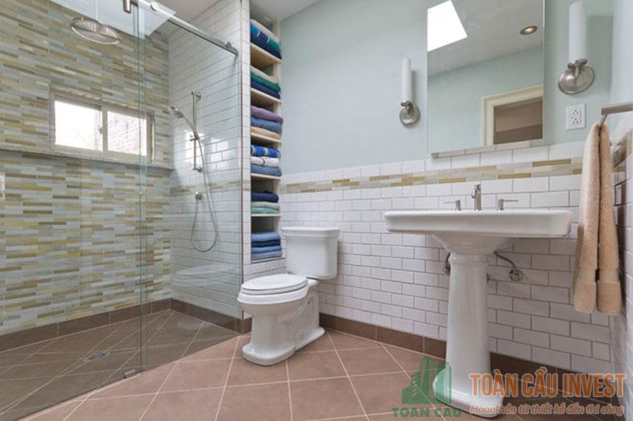 5 mẫu vách kính nhà tắm cửa lùa đẹp của Toàn Cầu Invest