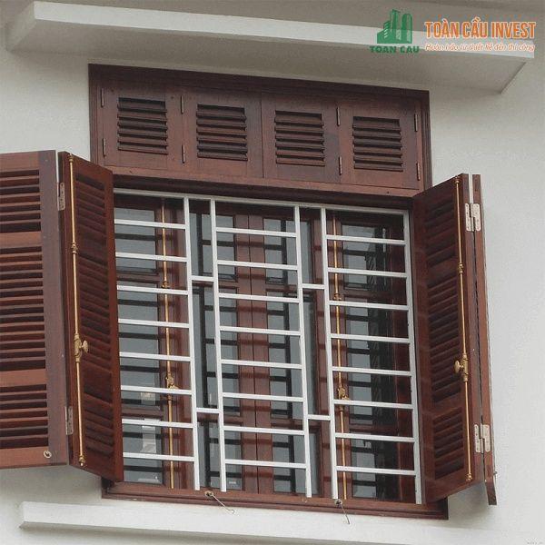 Mẫu khung bảo vệ sắt dành cho cửa sổ 4 cánh hiện đại