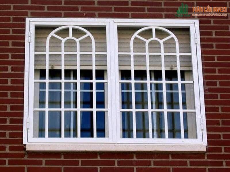 Mẫu cửa sổ khung sắt dọc ngang đan nhau