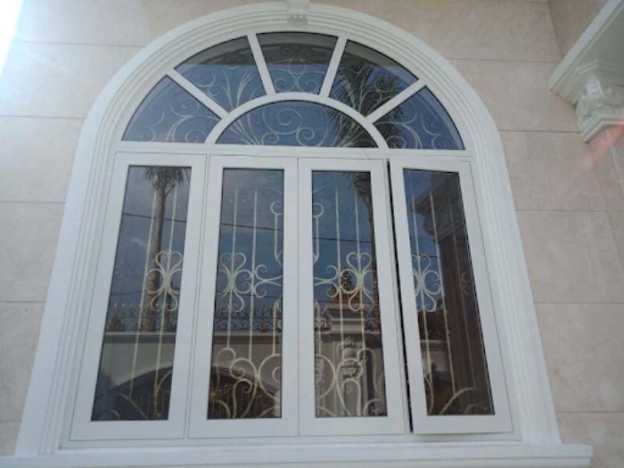 Mẫu sen hoa cửa sổ sắt hộp, inox