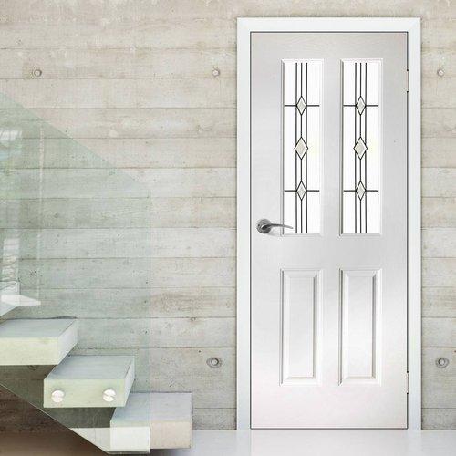 Mẫu cửa nhôm kính 1 cánh chia đố