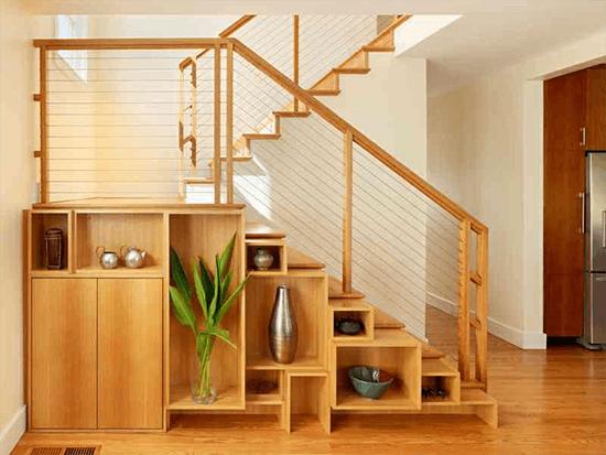 Mẫu vách cầu thang giật cấp bằng tấm ép